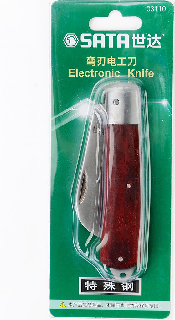 弯刃木柄电工刀70MM