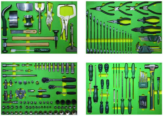 163件汽修钣金工具托组套