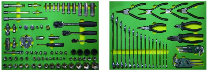 121件汽修通用工具托组套
