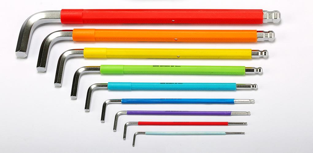 彩虹系列特长球头内六角扳手2.5MM