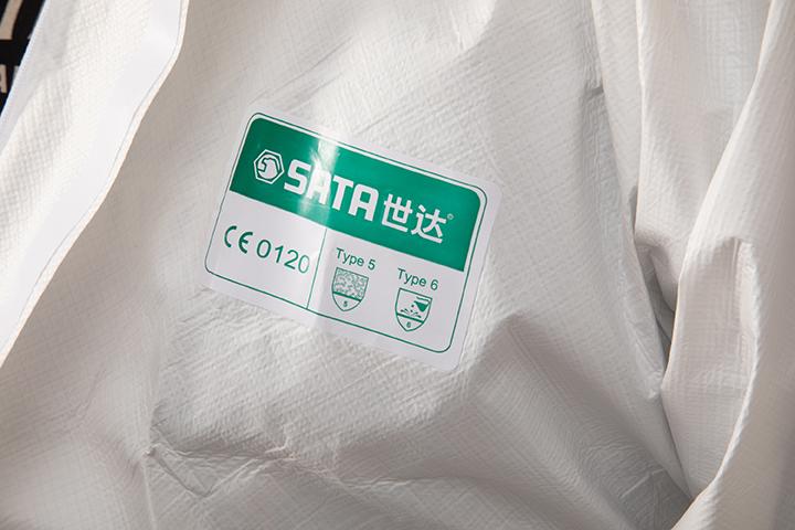透气膜防尘防静电防化服(S)