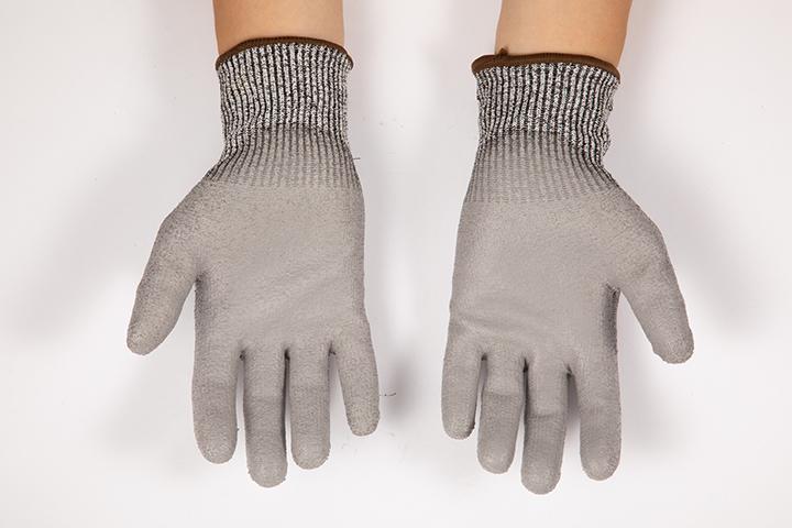 PU掌浸中型抗切割手套9