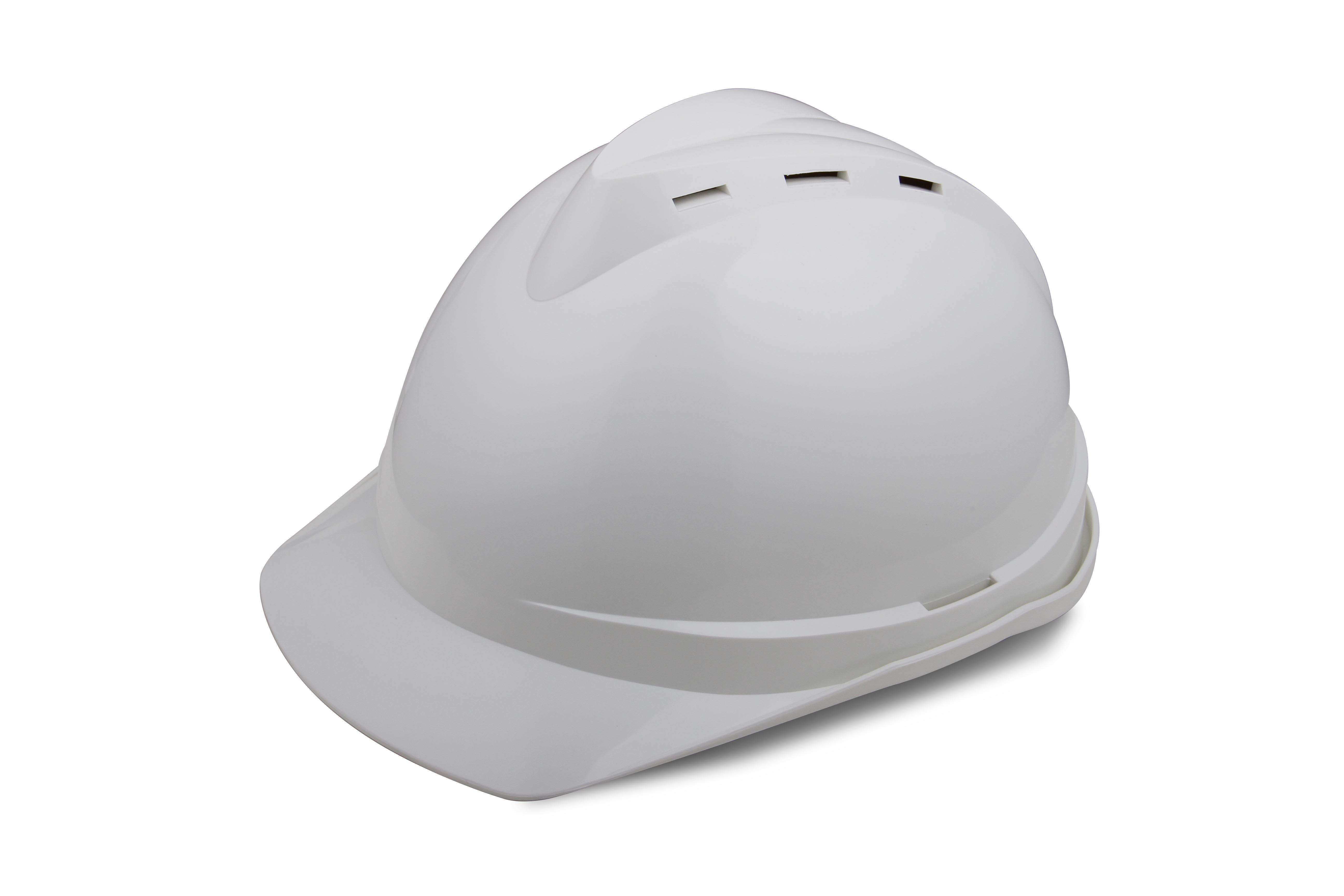 V顶ABS透气安全帽-白色