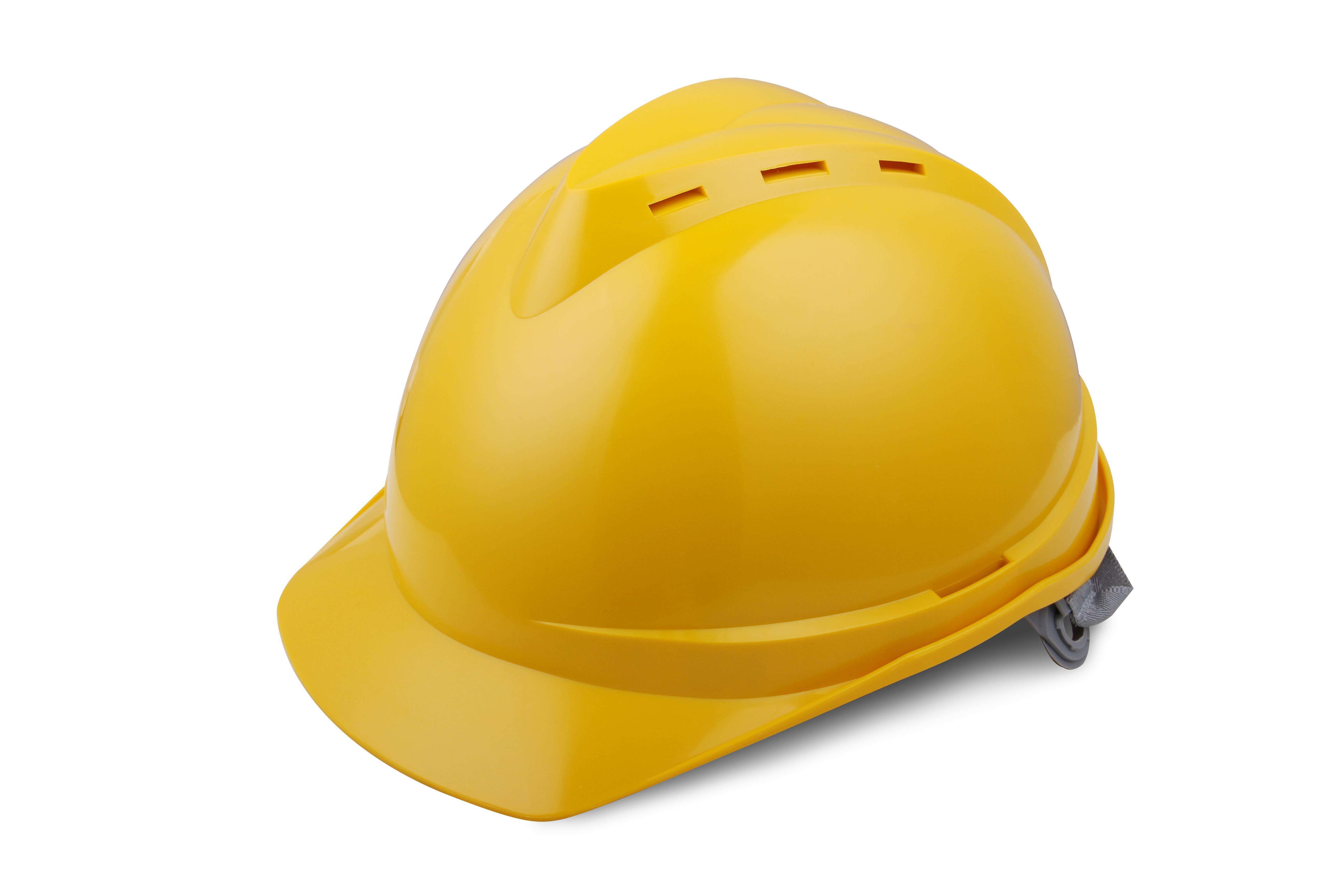 V顶ABS透气安全帽-黄色